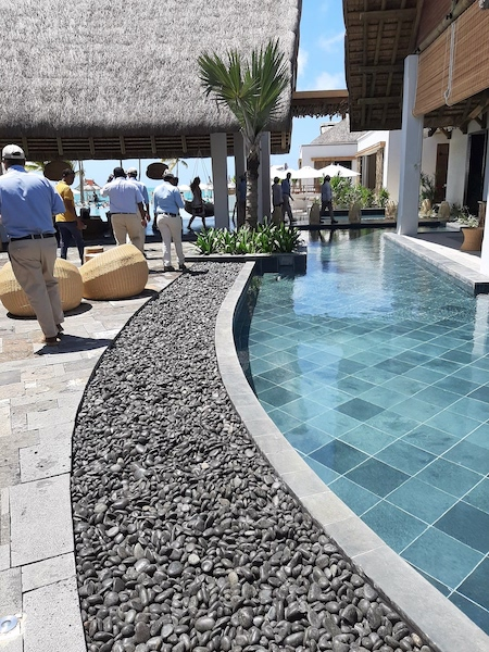 landscaping pool